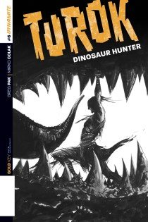 TUROK DINOSAUR HUNTER #6 LEE BLACK AND WHITE COVER